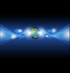 digital arrow with global vector image