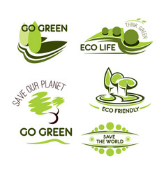 ecology nature and environment icon set vector image vector image