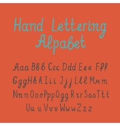 Hand lettering alphabet vector image vector image