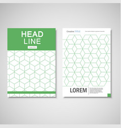 hexagon pattern brochure set vector image
