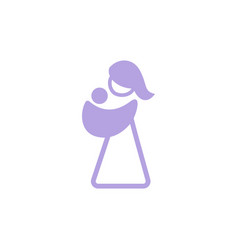 logo mother with her baby in sling sling logotype vector image