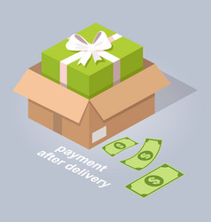payment after delivery online service vector image