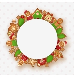 Christmas frame with place for your text vector image vector image