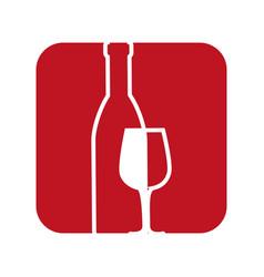 delicious wine cup vector image vector image