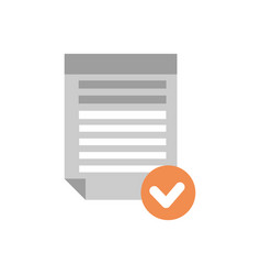 document file selected icon checklist paper vector image