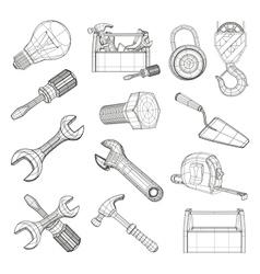 Drawing tools set vector