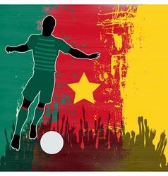Football Cameroon vector image vector image