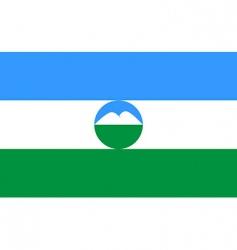 Kabardino Balkaria flag vector image