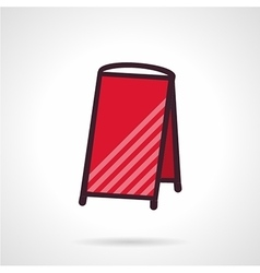Red empty sandwich signboard icon vector image vector image