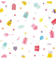 Seamless pattern with ribbons and stars vector image vector image