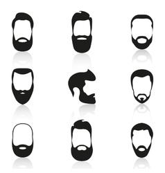 Set of vintage bearded men vector image