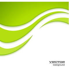 Abstract green waved background vector image