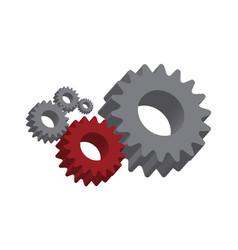 mechanical cogwheel important part vector image vector image
