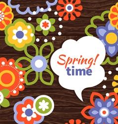 Spring design cartoon floral background vector image