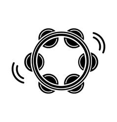 Tambourine icon black simple style vector image vector image