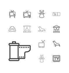 13 show icons vector