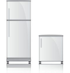 3D Refrigerator vector image