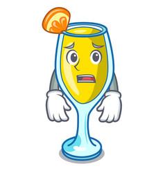 Afraid mimosa mascot cartoon style vector
