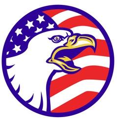 American bald eagle screaming vector