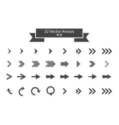 arrows set arrow icon arrow black colored icon vector image
