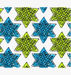 Artistic color brushed blue green stars vector