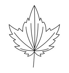 Big leaf icon outline style vector