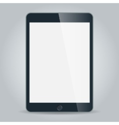 Black business tablet in iPad mini or air style vector image