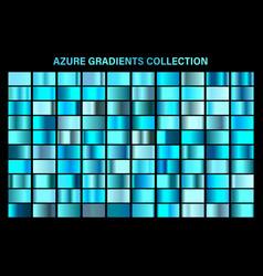 blue azure glossy gradient metal foil texture vector image