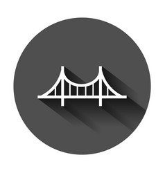 bridge sign icon in flat style drawbridge on vector image