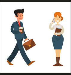 Business people man and woman vector