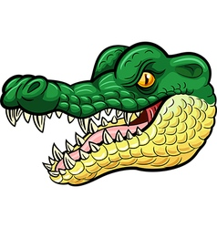 Cartoon angry crocodile mascot vector