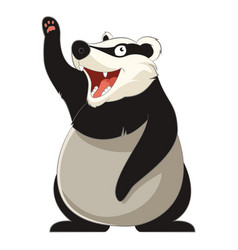 cartoon smiling badger vector image