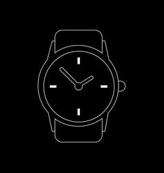 clock watch icon vector image