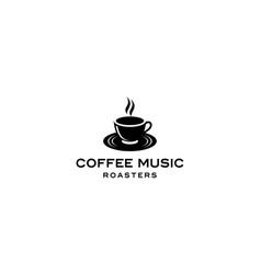 coffee music logo vector image