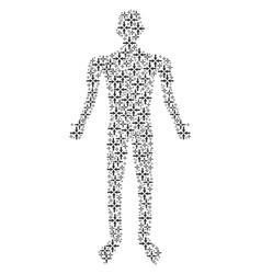 collide arrows person figure vector image