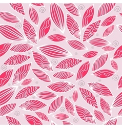 Colored seamless pattern with leaf in pink vector image