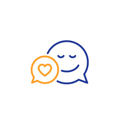 comic speech bubble with smile line icon vector image