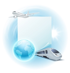 Concept travel vector image