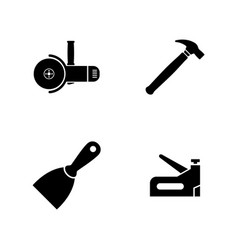 construction working tools simple related vector image