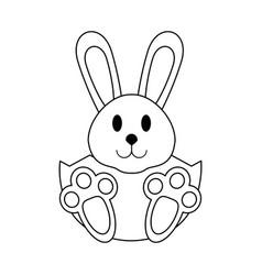 cute bunny cartoon vector image