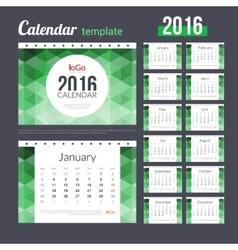 Desk Calendar 2016 Design Template with abstract vector