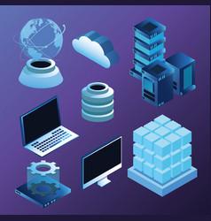 Digital technology symbols vector