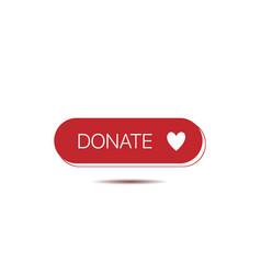 Donate button template vector