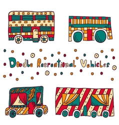 Doodle recreational vehicles-9 vector