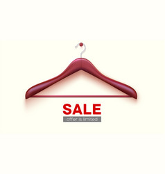 Empty wooden hanger hanging on wall clearance vector