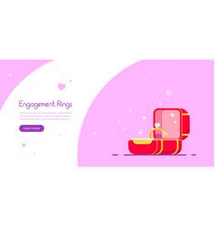 Engagement ring banner design vector