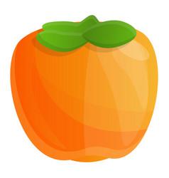 Exotic persimmon icon cartoon style vector
