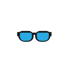 eye sunglasses logo icon design template vector image