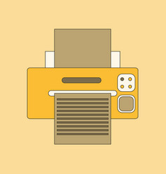 Flat icon on background printer vector