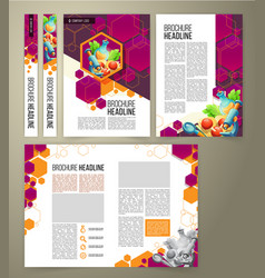 Flyer cover design business brochure vector